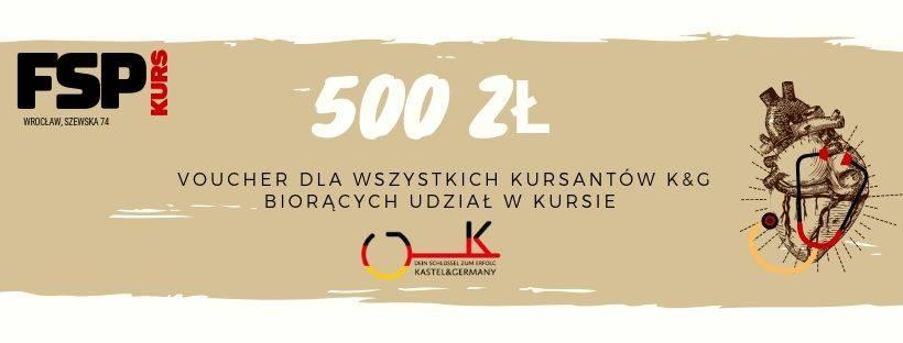Kupon rabatowy 500zł - Przygotowanie do FSP - specjalizacja w Niemczech